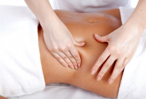 weightloss massage rubbing tummy